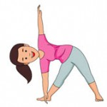 woman performing stretching exercise clipart